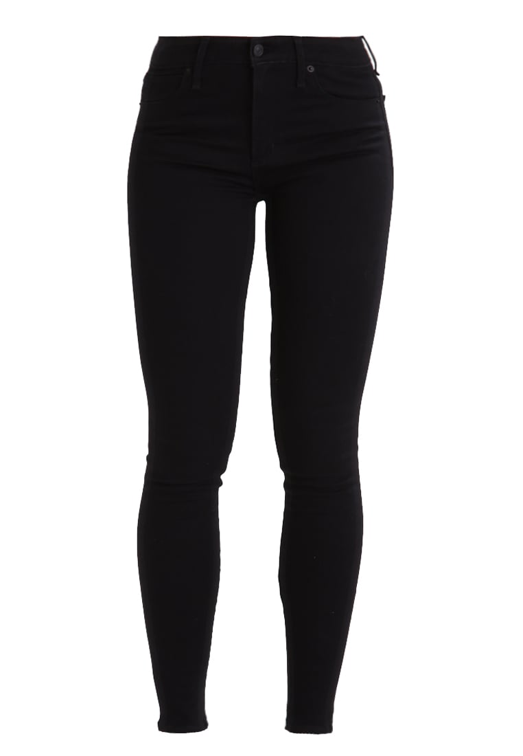 Abercrombie & Fitch HIGH RISE SUPER SKINNY Jeans Skinny Fit black - KI155-7229