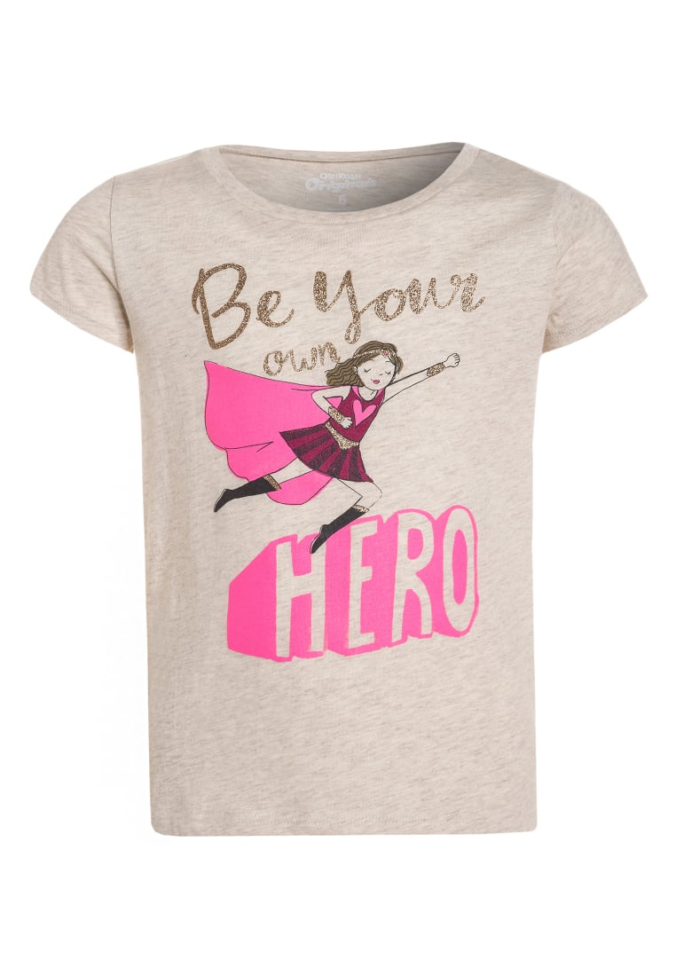 OshKosh BE YOUR HERO Tshirt z nadrukiem heather - 31868113