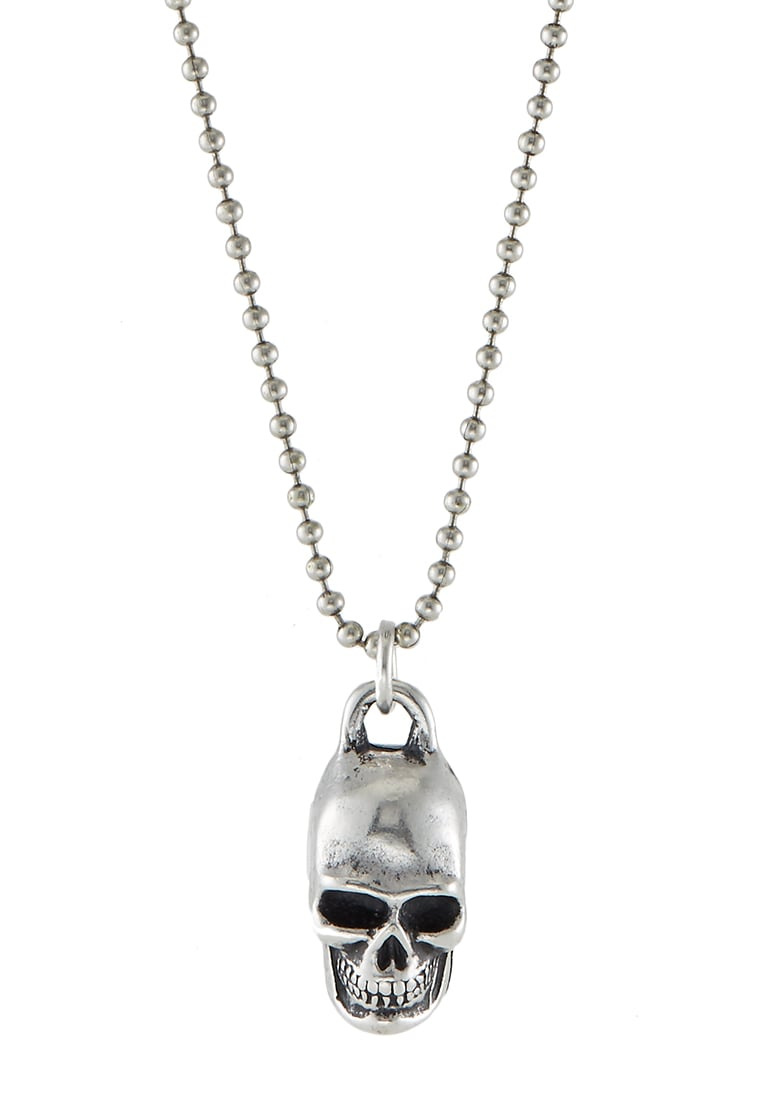 Double U Frenk Naszyjnik silvercoloured - NEW SKULL
