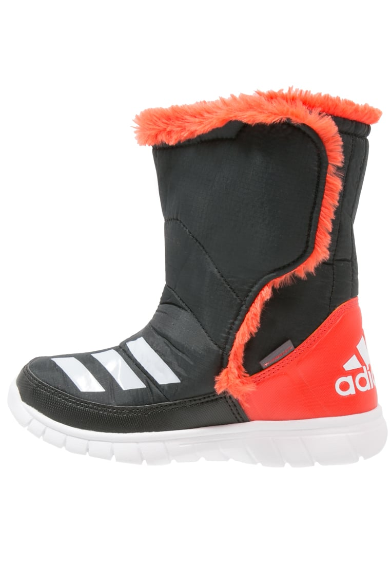 adidas Performance LUMILUMI Śniegowce core black/white/bold orange - KDW70