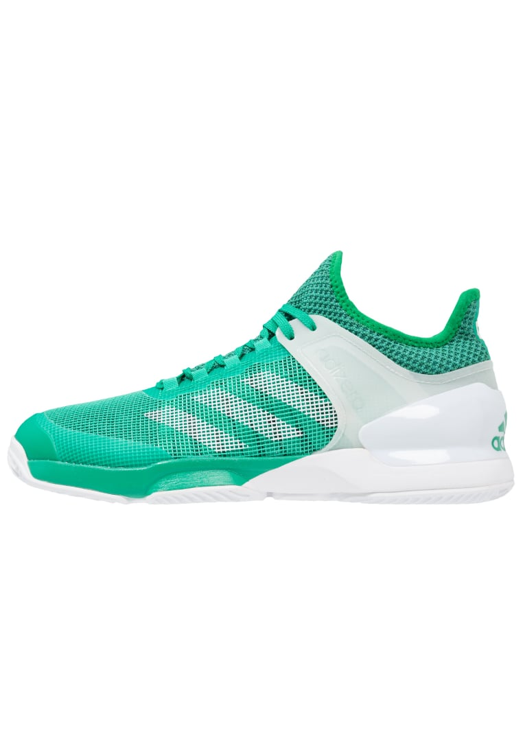 adidas Performance ADIZERO UBERSONIC 2 CLAY Buty do tenisa Outdoor core green/white/green - BEY53