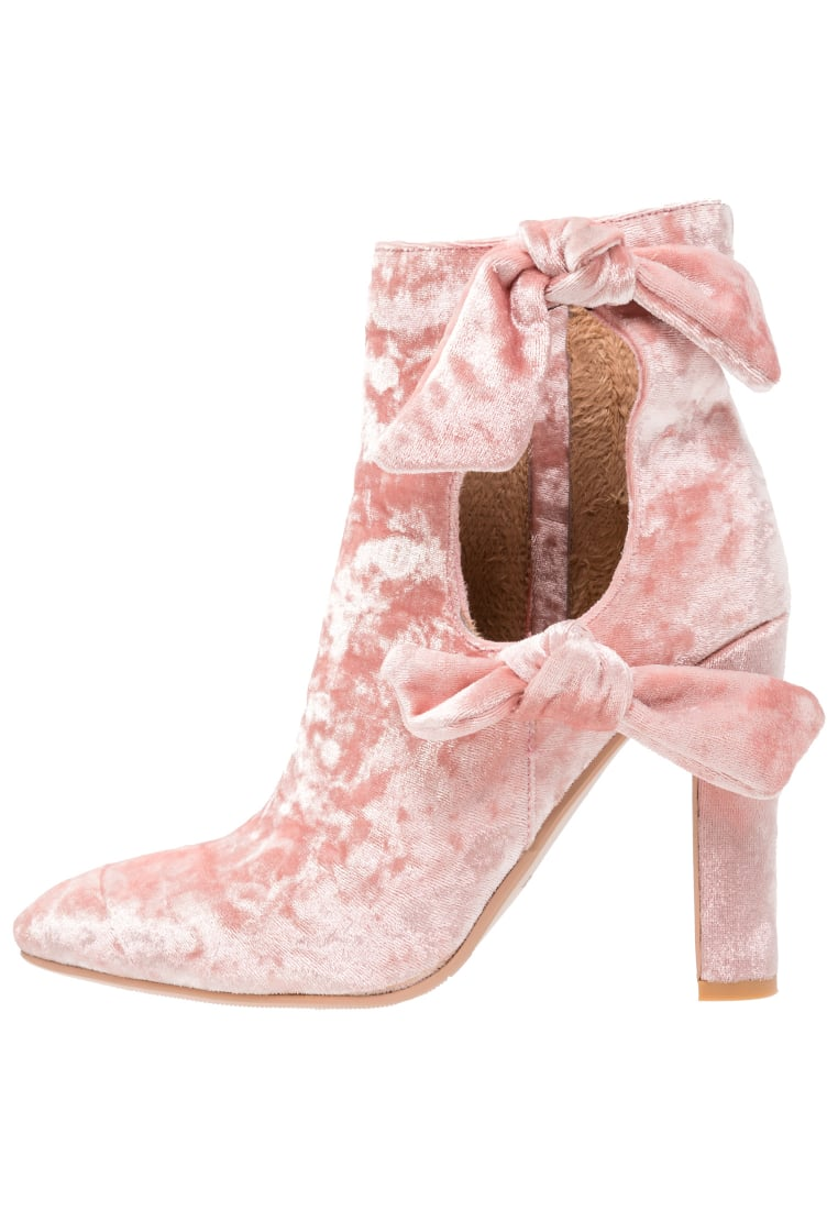 Lavish Alice CUT OUT DOUBLE TIE Botki na obcasie rosa - FW-056
