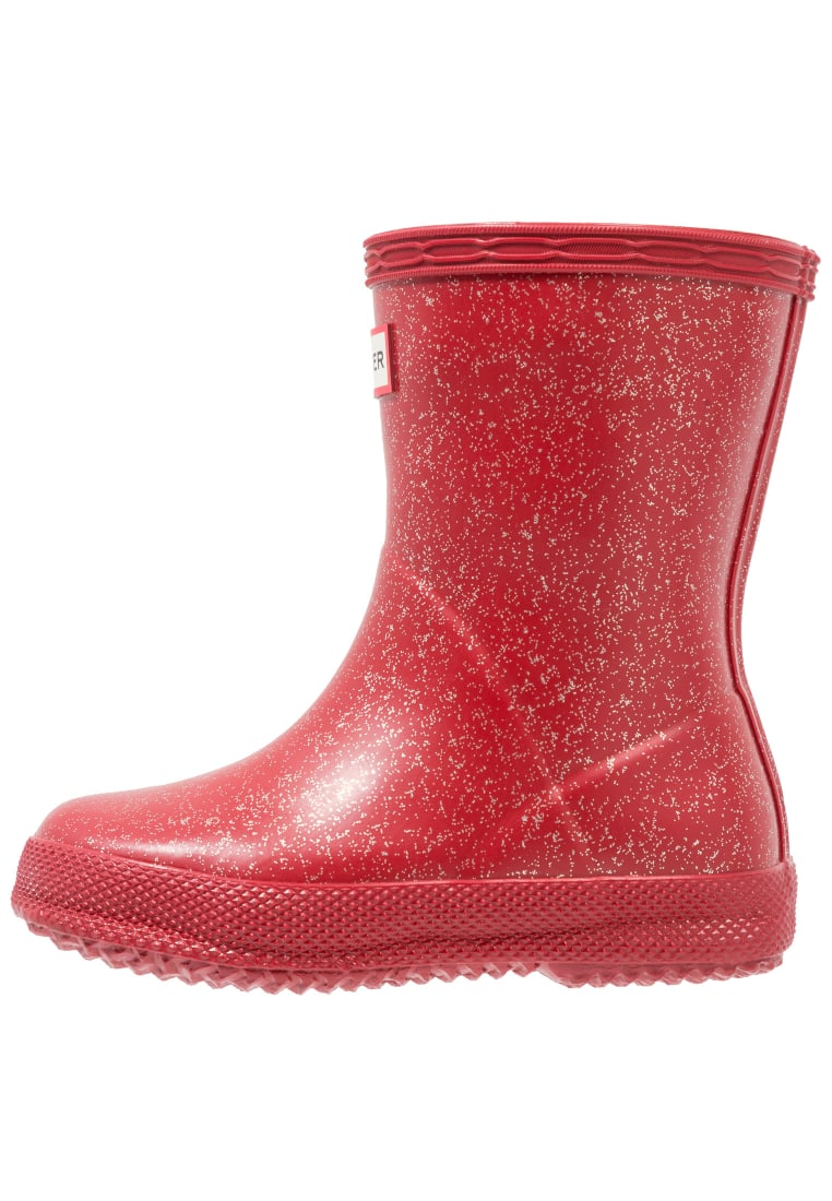 Hunter FIRST GLITTER Kalosze military red - KFT5003RGG