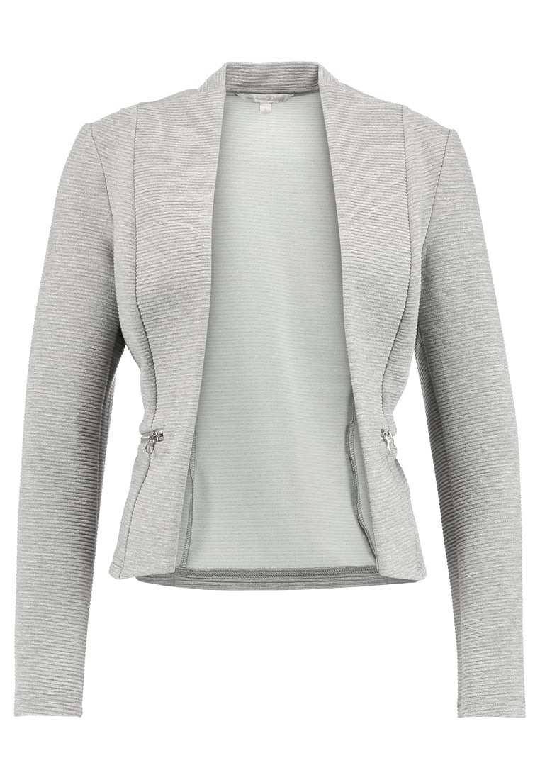 TOM TAILOR DENIM COLLARLESS Żakiet light silver grey