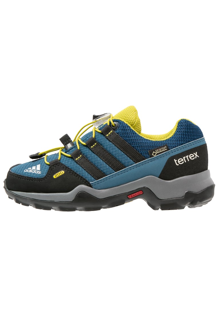 adidas Performance TERREX GTX Półbuty trekkingowe tech steel/core black/university lime - IUW35
