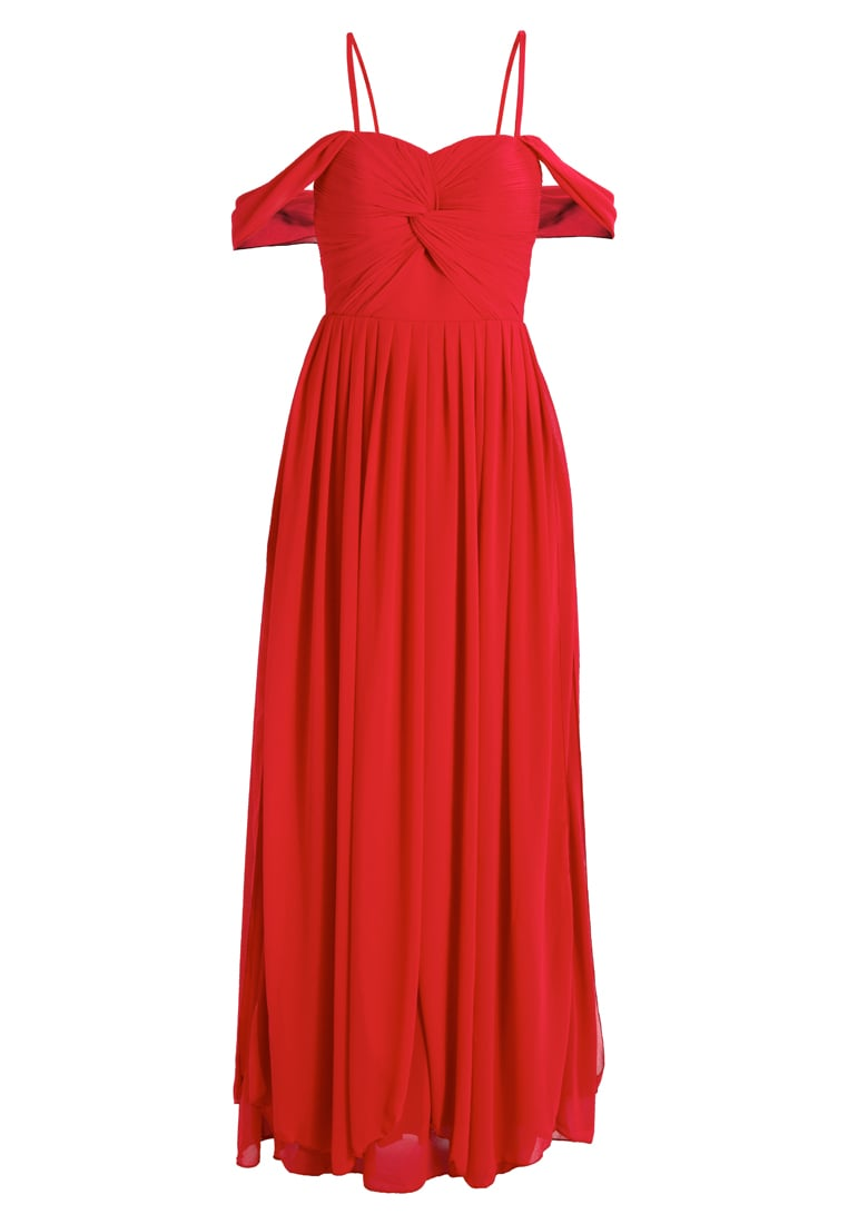 YAS BRIDAL YASMOLLY COLD SHOULDER MAXI DRESS Suknia balowa barberry - 26010122