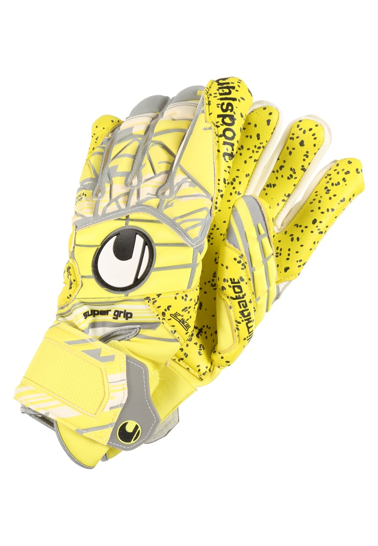 Uhlsport ELIMINATOR HN Rękawice bramkarskie lite fluo yellow/griffin grey/white - 1011006