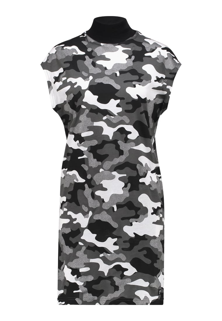 Cheap Monday CAP DRESS AFTER CAMO Sukienka z dżerseju black - 0476034