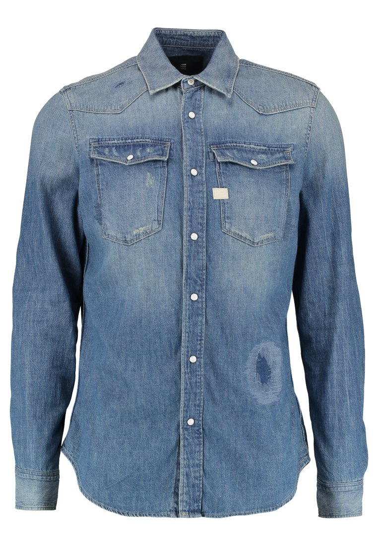GStar 3301 GRAFT SHIRT L/S SLIM FIT Koszula craser denim - D07392