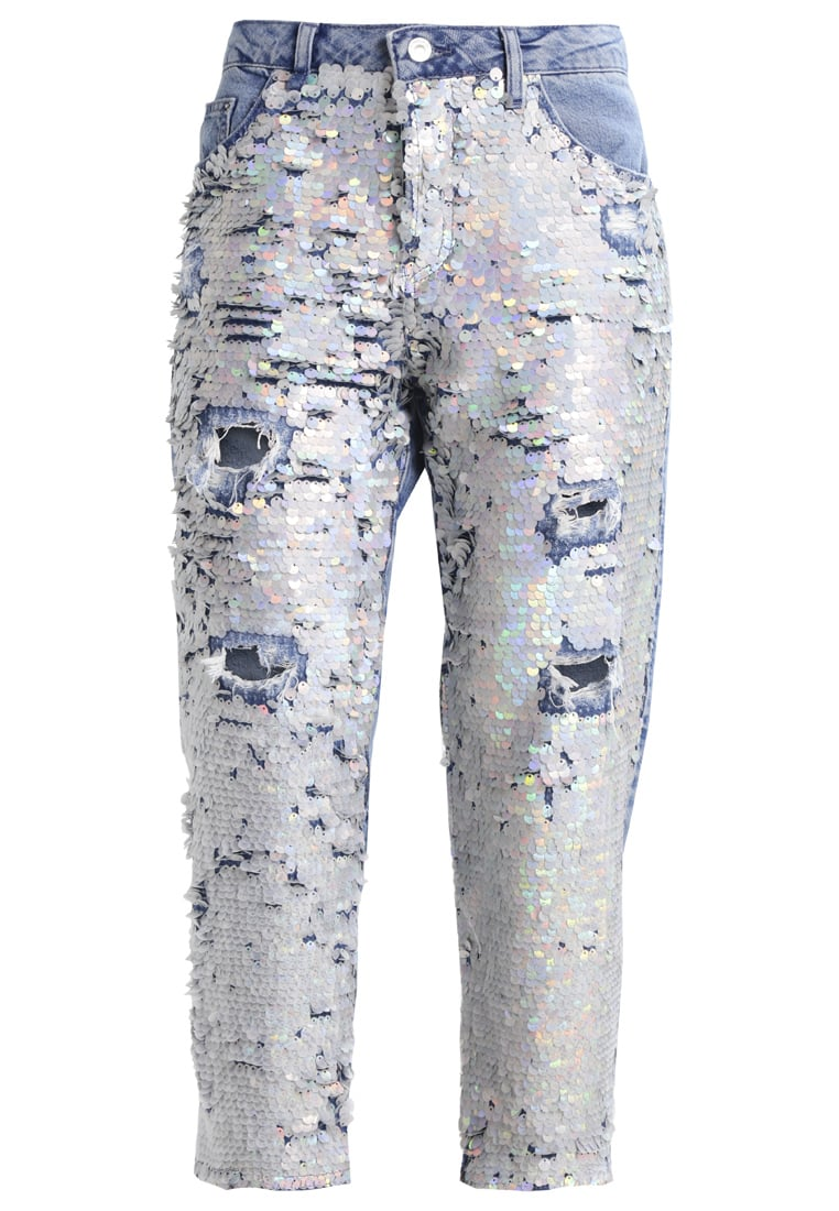 Topshop Petite ARIEL Jeansy Relaxed Fit middenim - 26A65LMDT