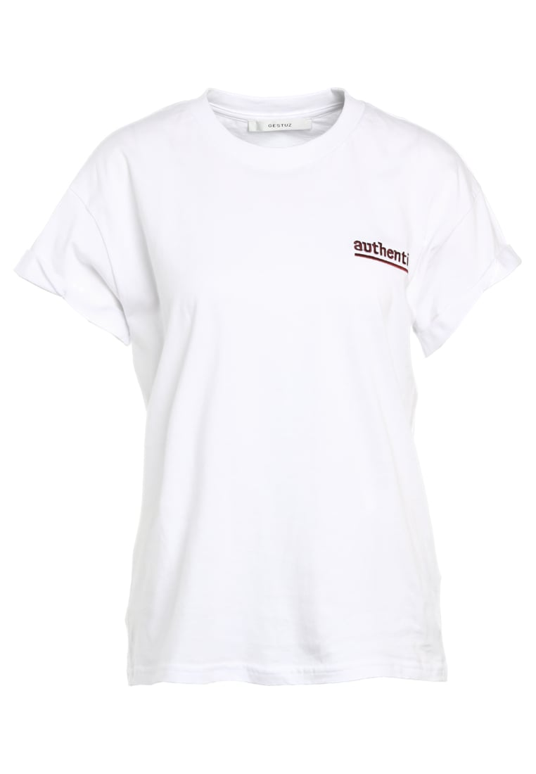 Gestuz AUTHENTIC Tshirt z nadrukiem bright white - 10901153