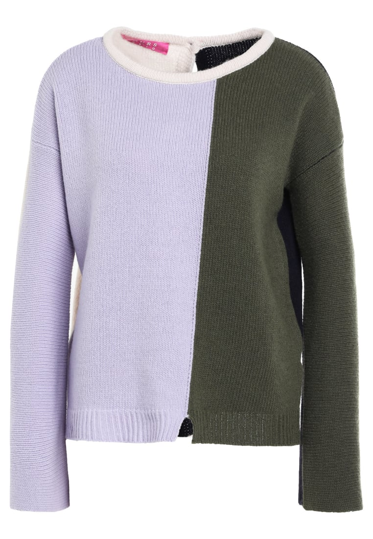 81hours Studio BACK TO FRONT Sweter lilac army - Z81019