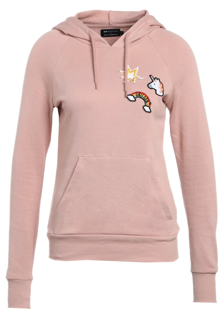 Even&Odd X Visual Statements Bluza rose - Unicorn_Hoodie_Patches
