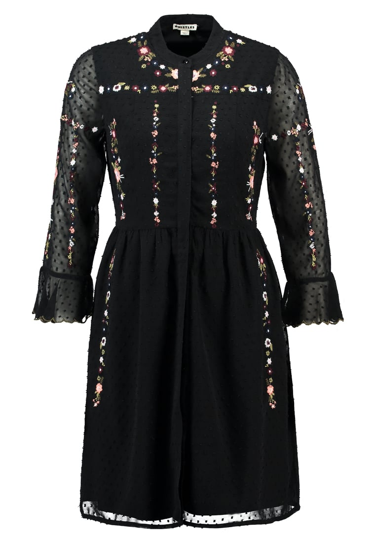 Whistles AMIRA EMBROIDERED Sukienka koszulowa black/multi - DX511