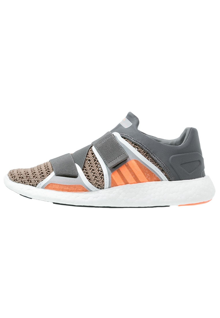 adidas by Stella McCartney PUREBOOST Tenisówki i Trampki granit/natural grey/powder rose pink - KCY21