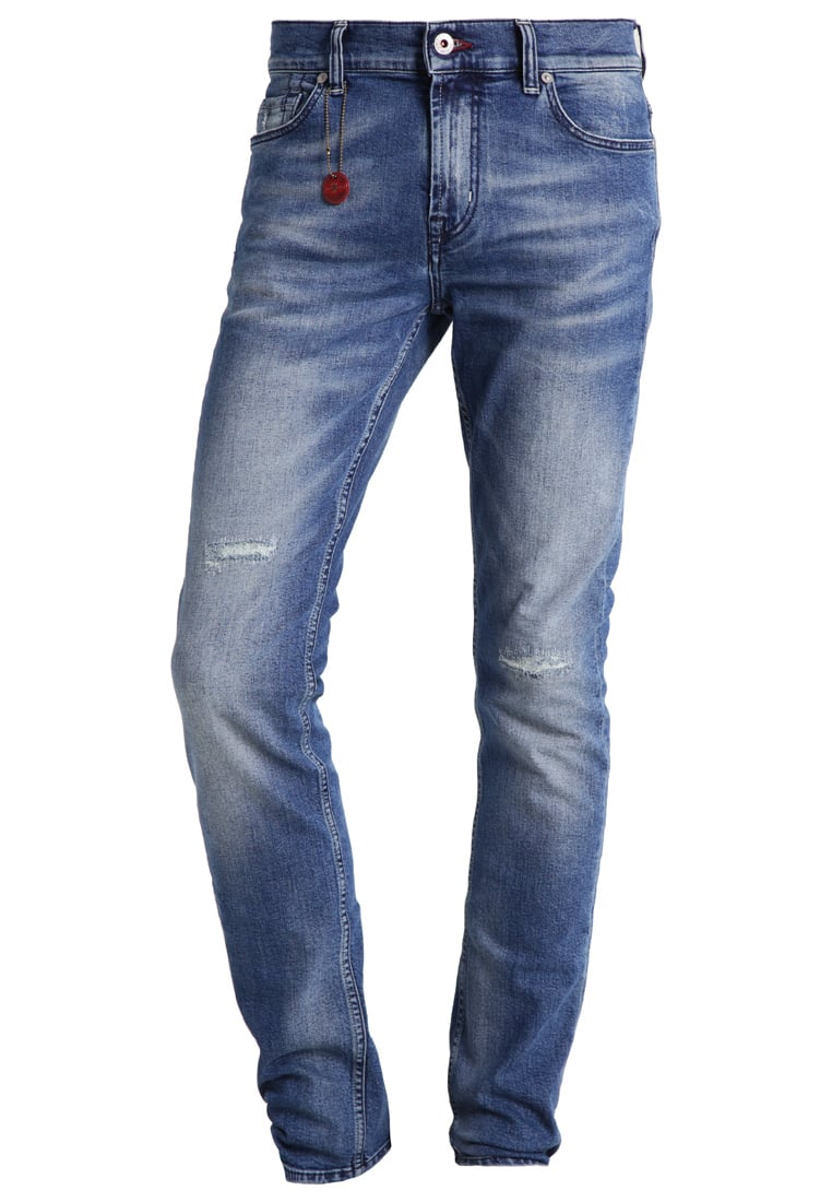 7 for all mankind RONNIE Jeansy Straight leg blue - SD4R630BS