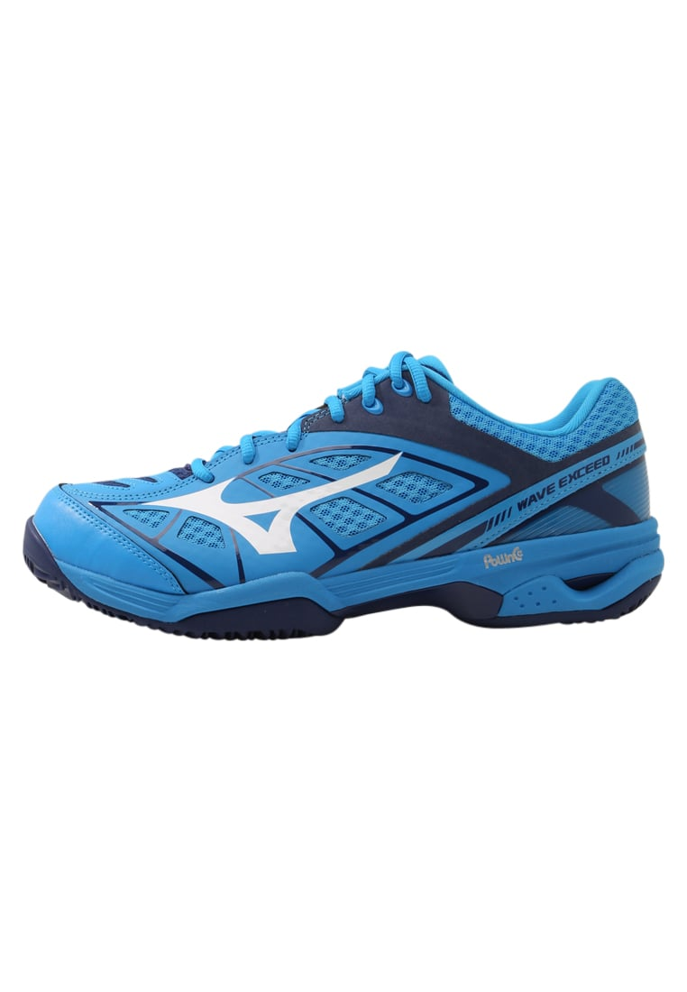 Mizuno WAVE EXCEED CLAYCOURT Buty do tenisa Outdoor diva blue/white/blue depths - 61GC1753