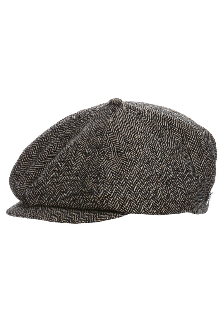 Brixton BROOD Czapka brown/khaki herringbone - 00006