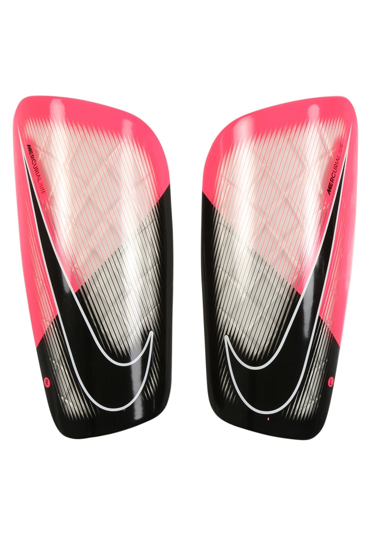 Nike Performance MERCURIAL LITE Nagolenniki black/racer pink/white - SP2086