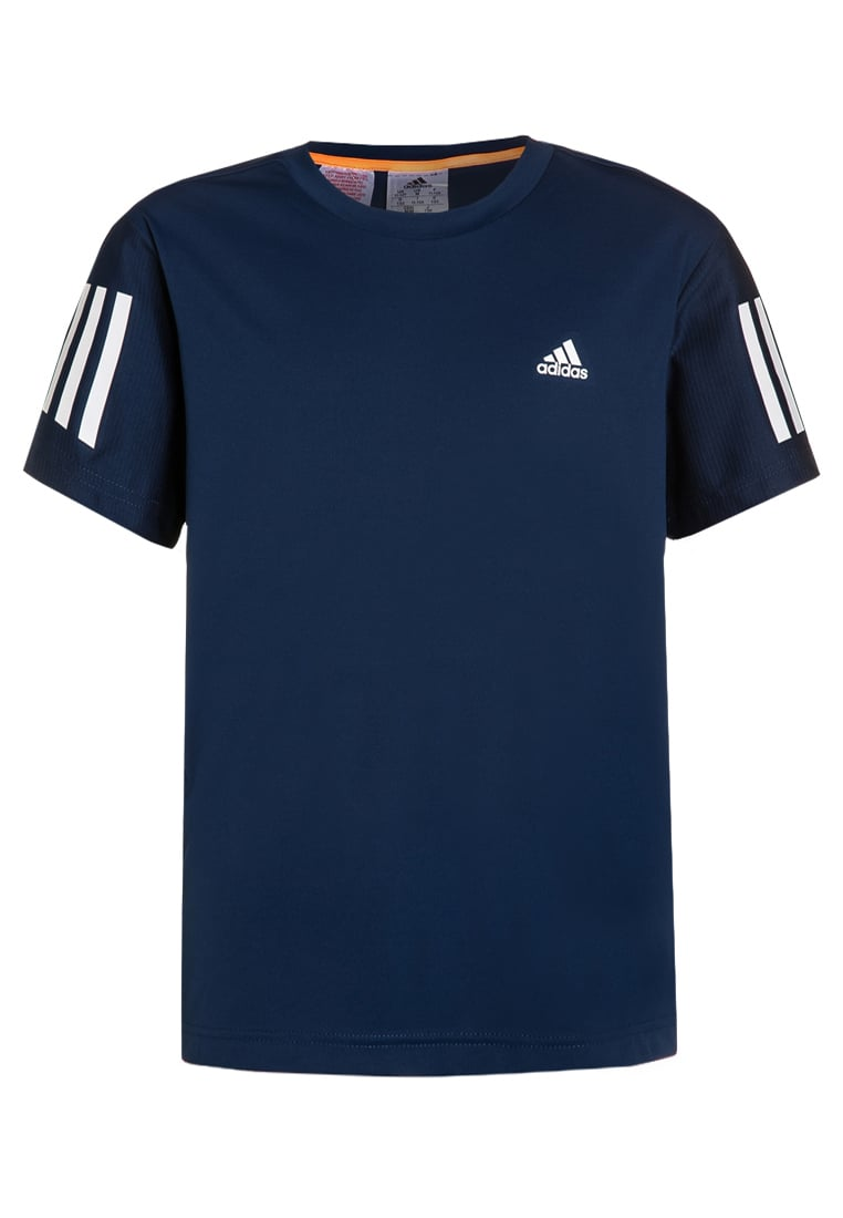 adidas Performance CLUB Tshirt z nadrukiem mystery blue/white - BX525