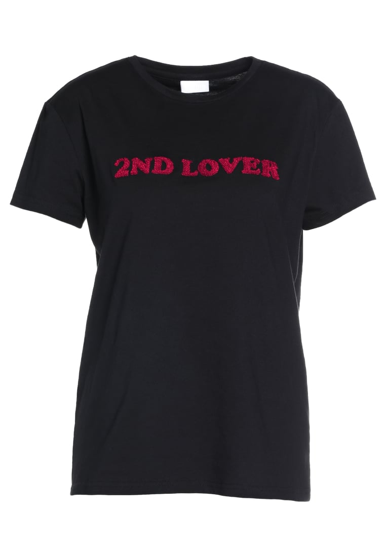 2nd Day 2ND LOVER Tshirt z nadrukiem black - 6173240003