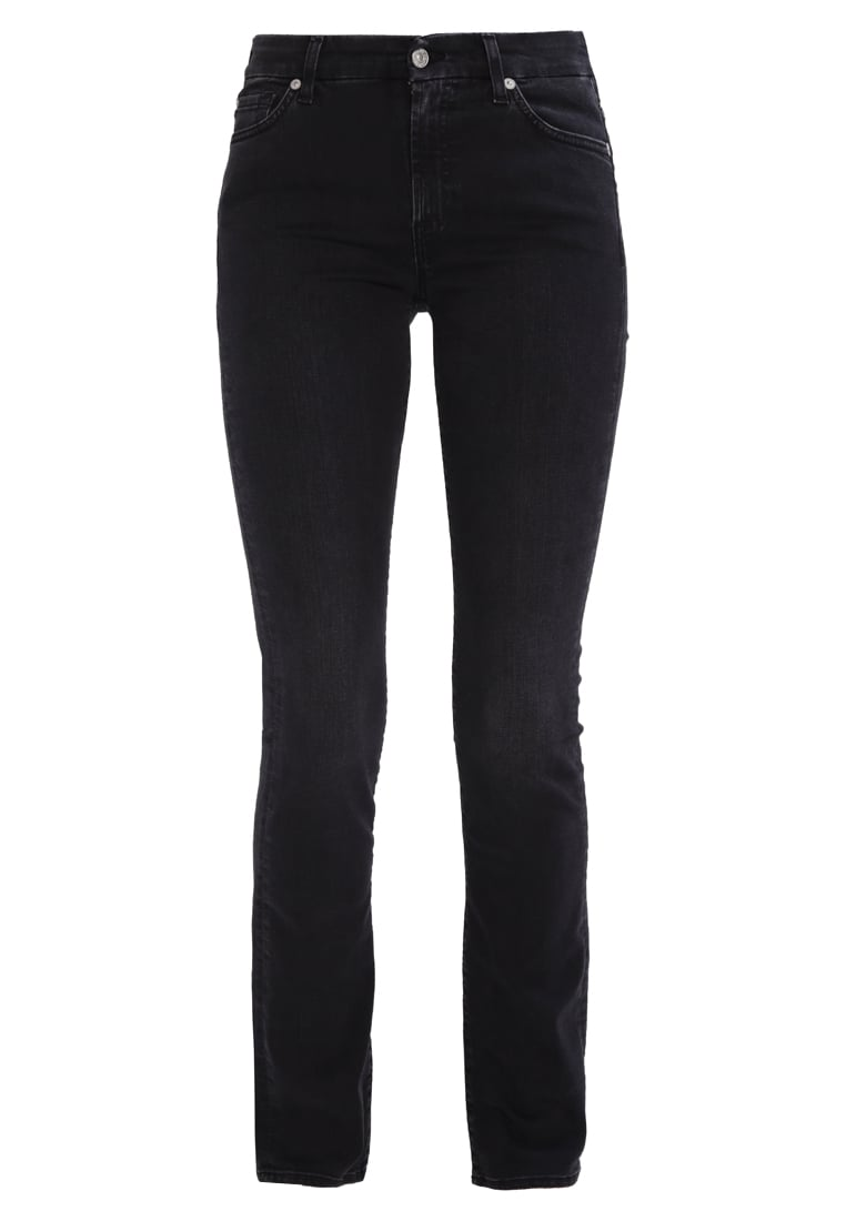 7 for all mankind KIMMIE Jeansy Straight leg bair black washed - SVM9300AA