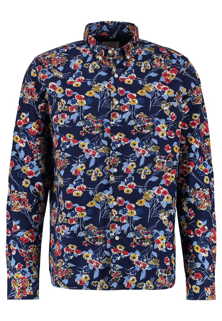 Knowledge Cotton Apparel ALLOVER FLOWER Koszula peacoat - 90618