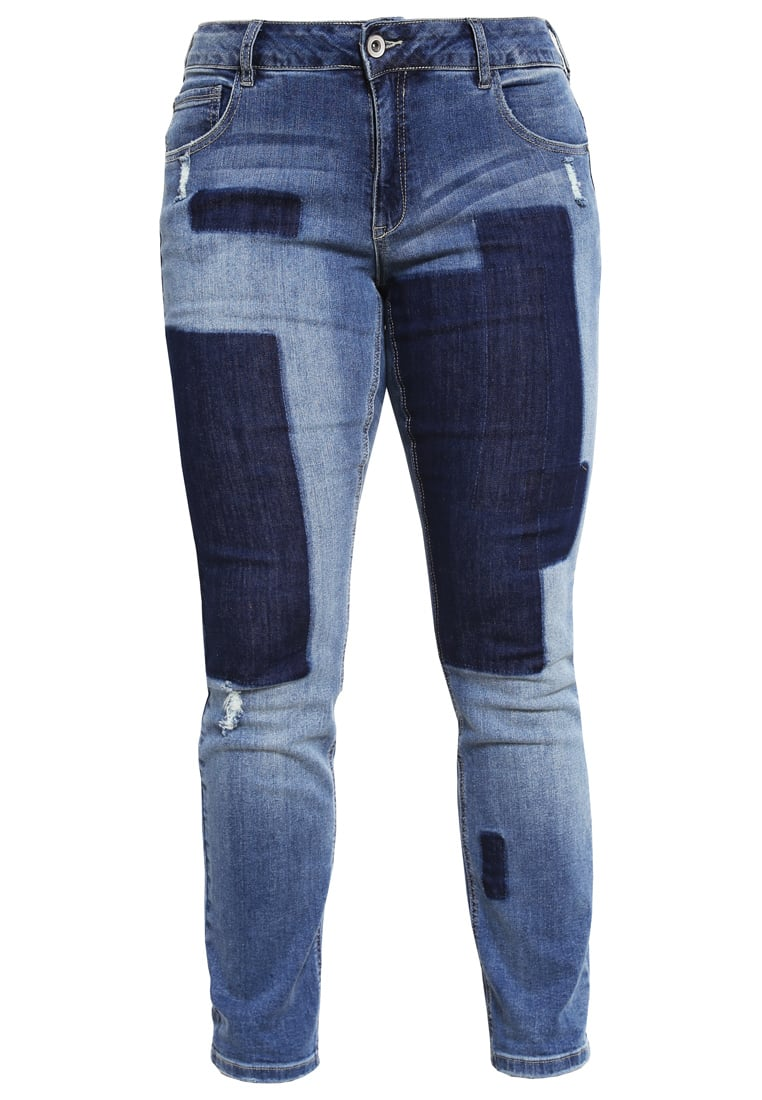 Zizzi EMILY Jeansy Slim fit blue denim - J99373A