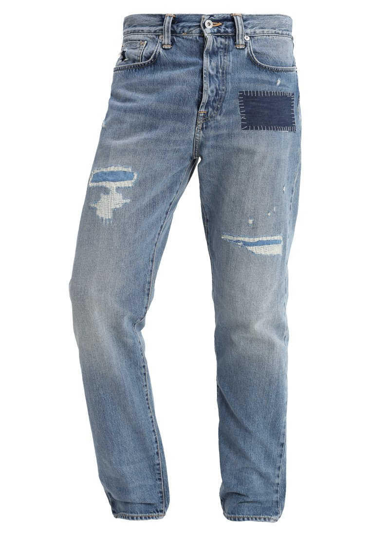 Edwin ED45 LOOSE TAPERED Jeansy Relaxed Fit destroyed denim - I022705