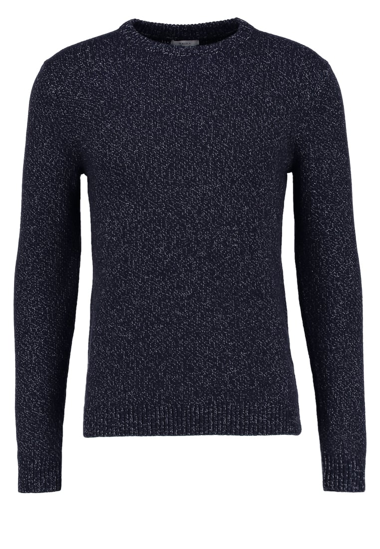 Reiss ANDREW Sweter navy - TWISTED YARN CREW