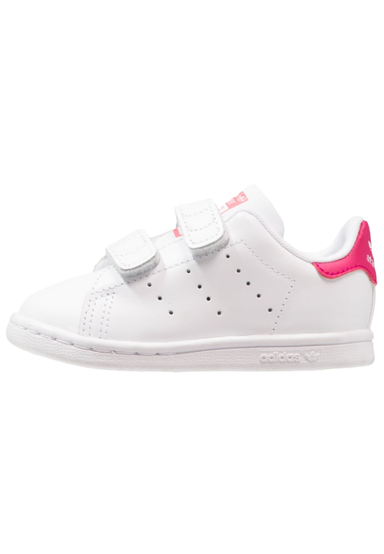 adidas Originals STAN SMITH CF I Buty do nauki chodzenia white/bold pink - BEG36