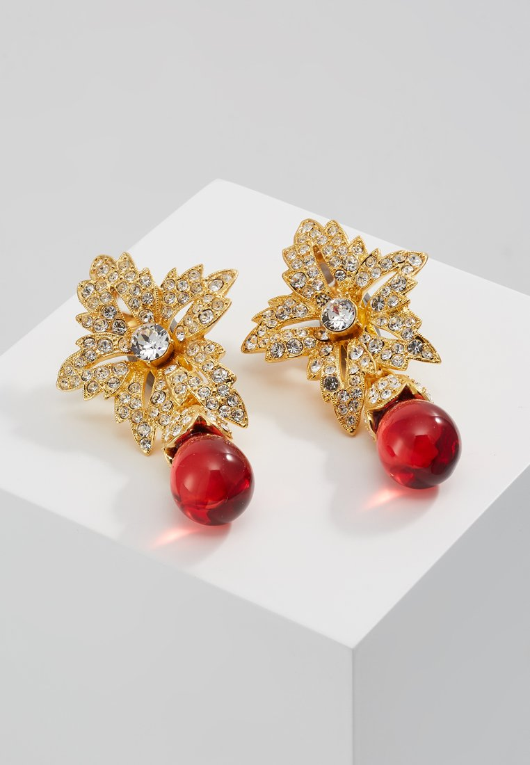 Kenneth Jay Lane JACKIE ONASSIS DROP EARRING Kolczyki ruby - 3562ER