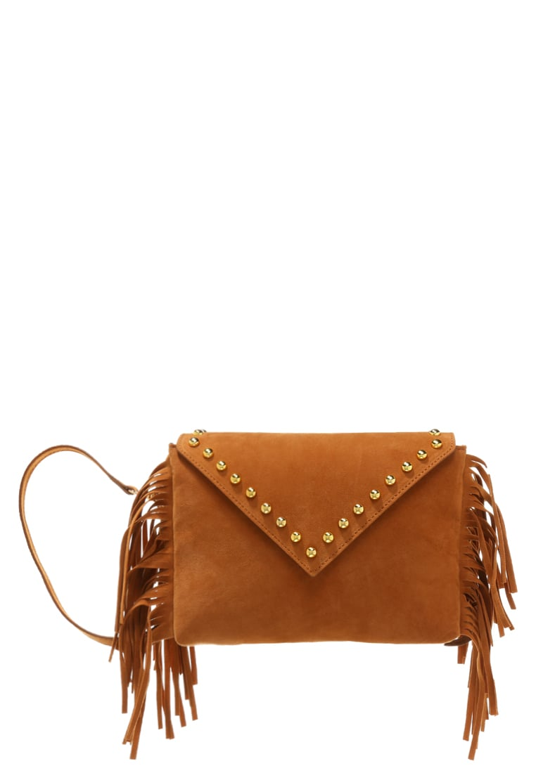 House of Cases Kopertówka cognac - COGNAC FRINGE +STUDS