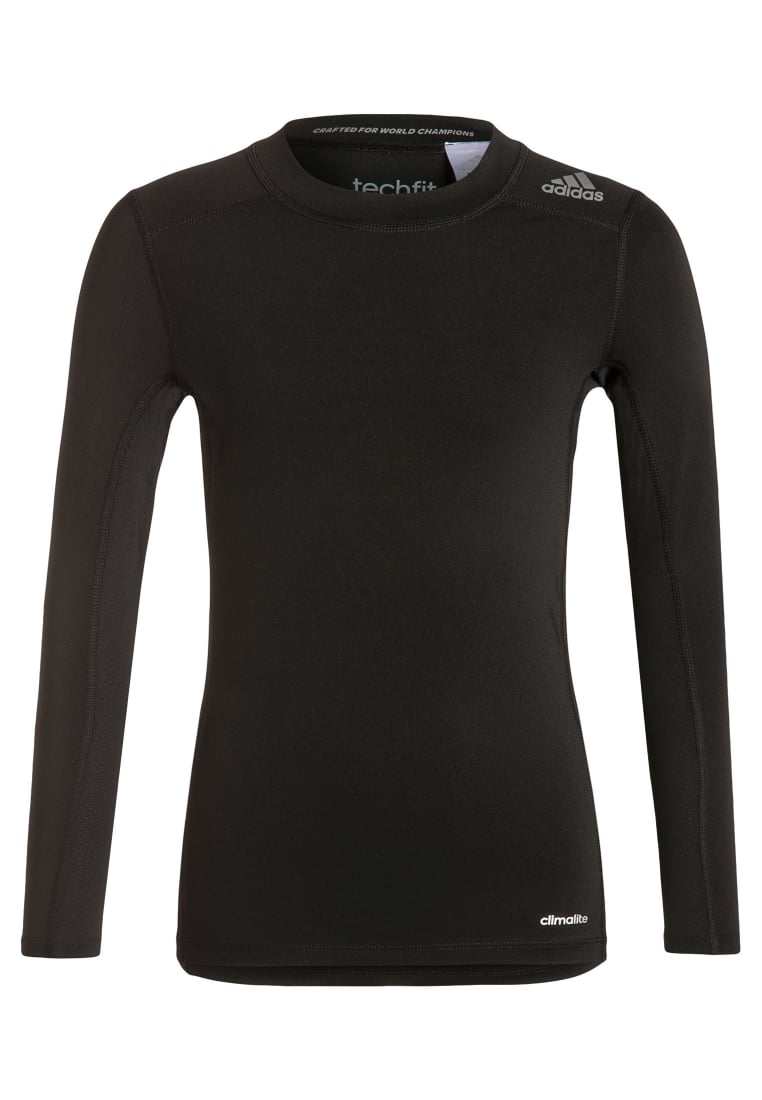 adidas Performance TECHFIT BASE Podkoszulki black - BFN55