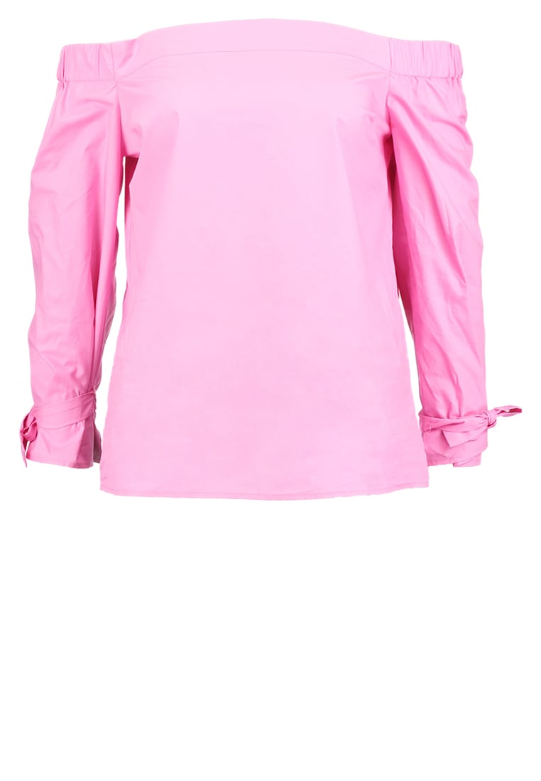 Warehouse Bluzka pink - Tie Strap Bardot Top