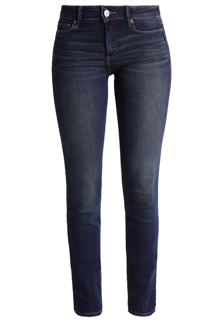 Abercrombie & Fitch Jeansy Straight leg dark wash - KI155-6075