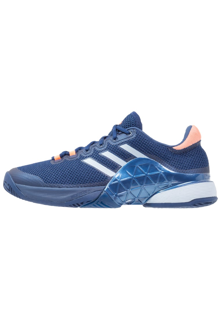 adidas Performance BARRICADE 2017 Buty multicourt mystery blue/tactile blue/glow orange - KDW16