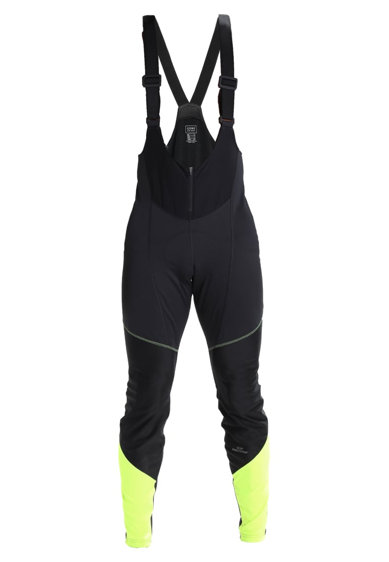 Gore Bike Wear ELEMENT BIBTIGHTS Legginsy black/neon yellow - WWELMP9908