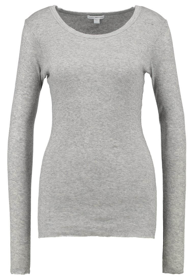 James Perse Bluzka z długim rękawem heather grey - WVA3554