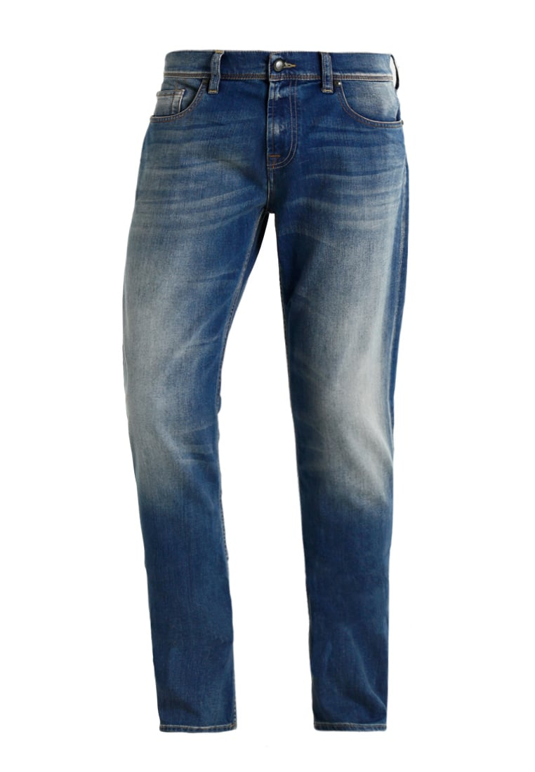 7 for all mankind CHAD FULLPROOF Jeansy Straight Leg mid blue - SD3U500AA