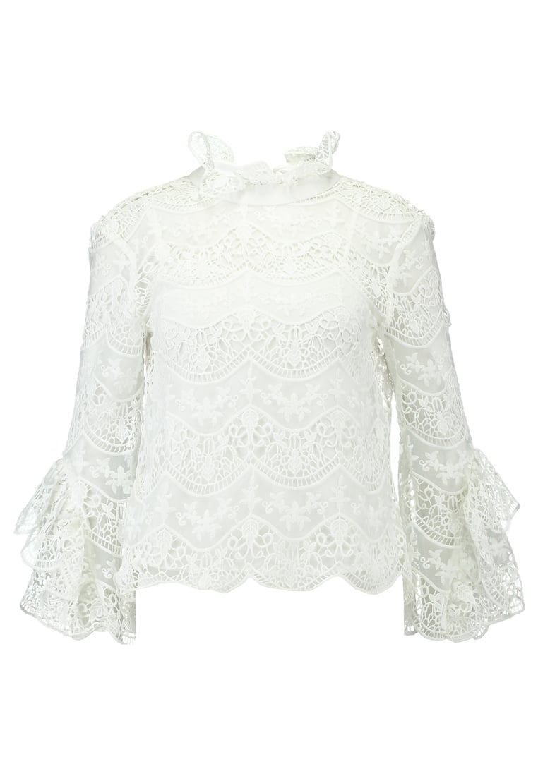 Endless Rose CROCHET LACE WITH RIBBON TIES AT BACK Bluzka off white - 10442T7FR