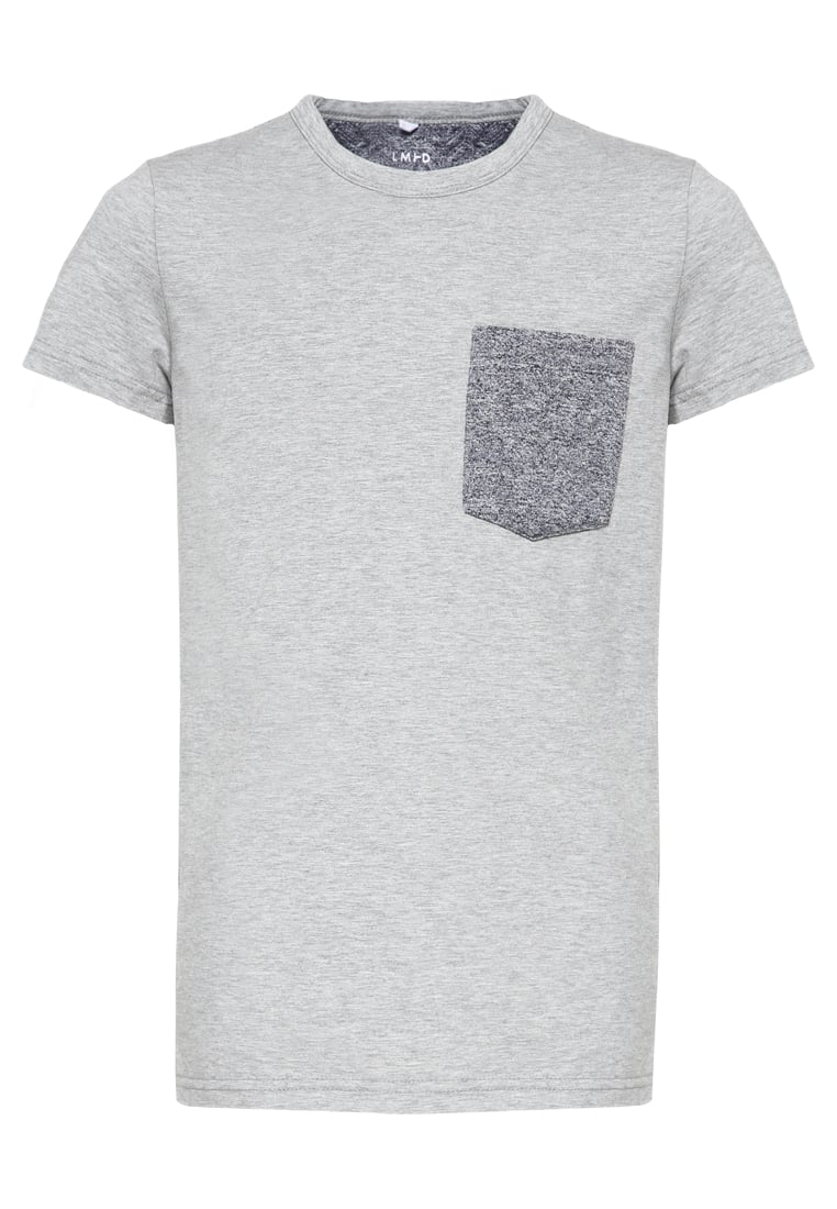 limited by name it NITCARLOS Tshirt basic grey melange - 13133561