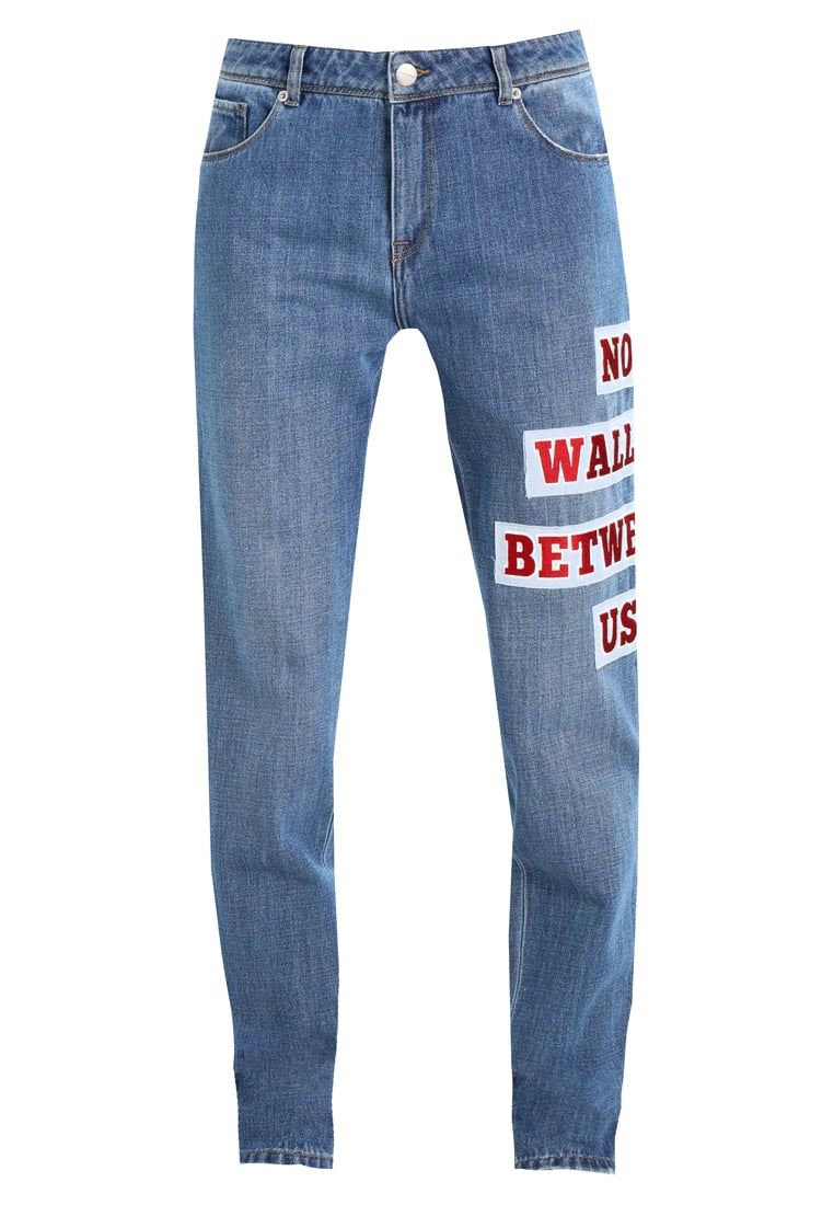 Each x Other EMBROIDERED BAGGY Jeansy Straight leg dark blue - FW17G16065