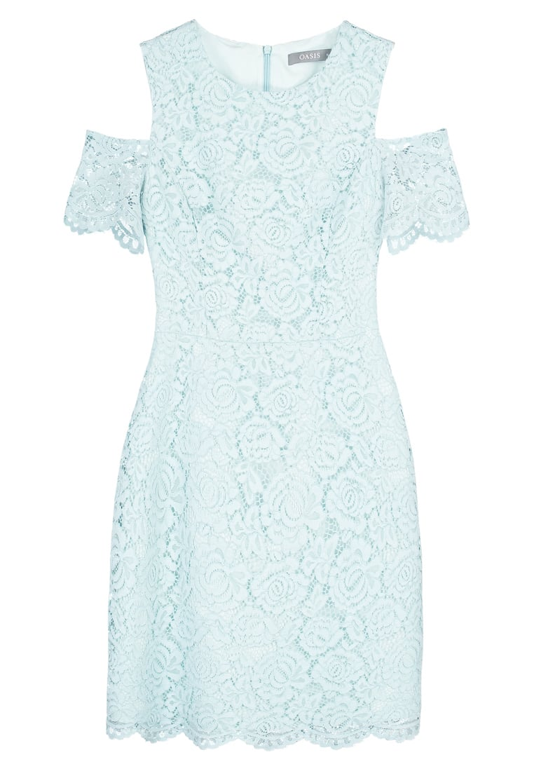 Oasis COLD SHOULDER Sukienka etui mint - LACE COLD SHOULDER DRESS