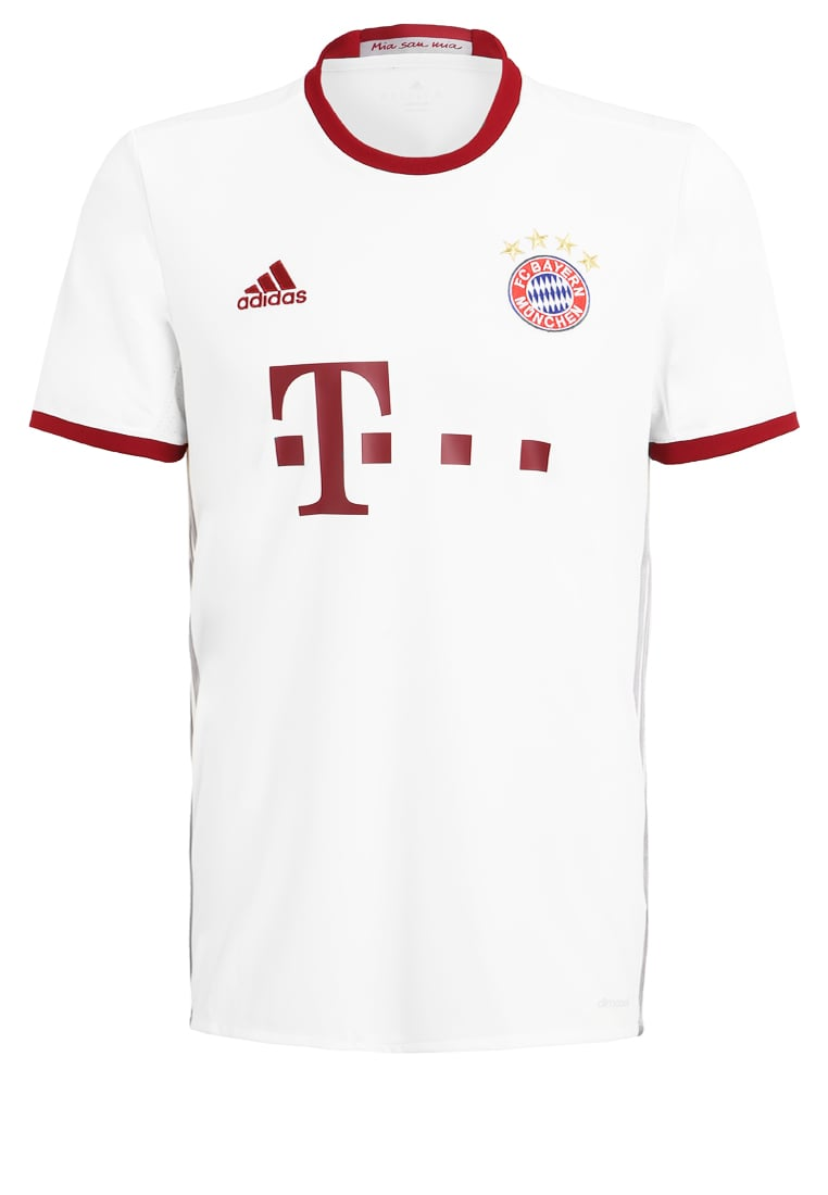 adidas Performance FC BAYERN Artykuły klubowe white/light onix/collegiate burgundy - BXE61