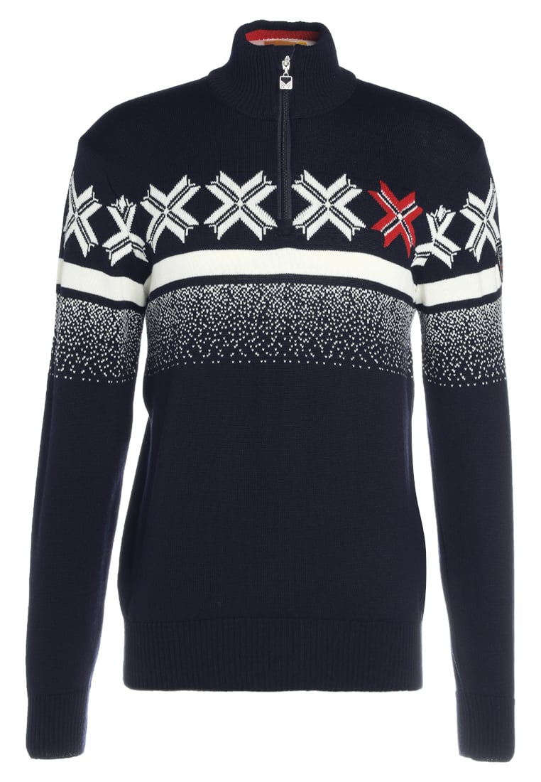 Dale of Norway OLYMPIC PASSION Sweter navy/ raspberry/off white - 93361