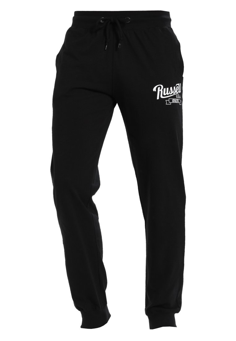 Russell Athletic CUFFED PANT WITH SCRIPT Spodnie treningowe black - A8-090-1
