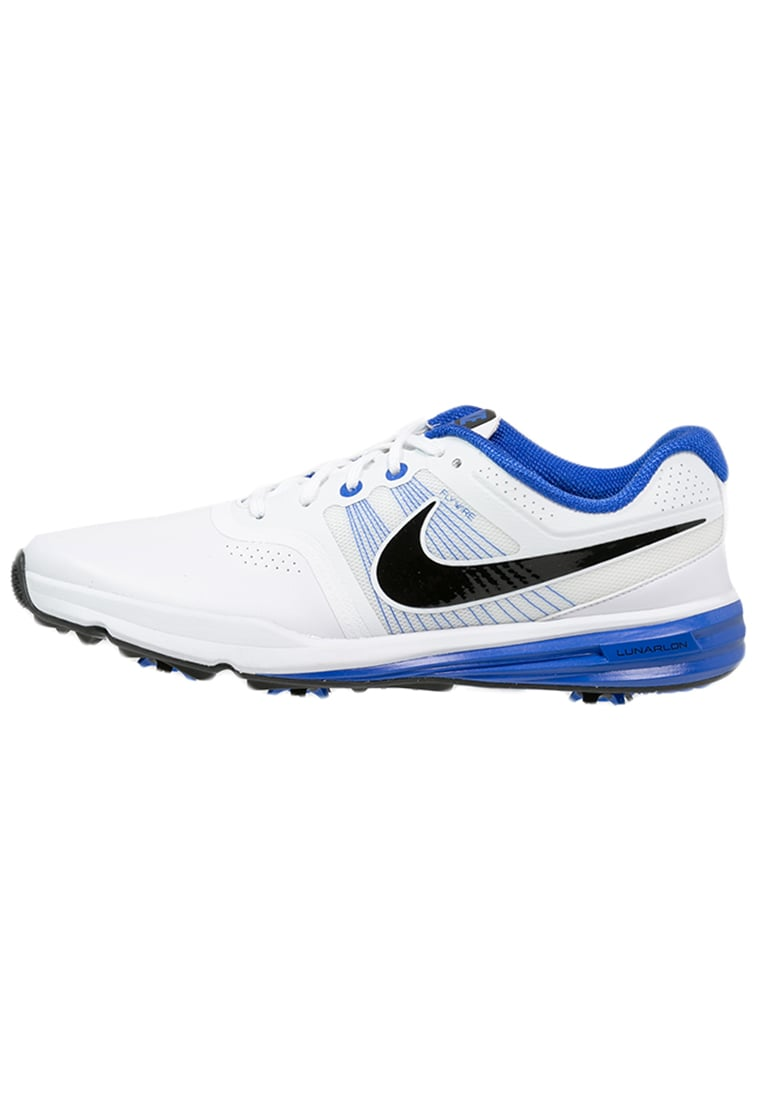 Nike Golf LUNAR COMMAND Buty do golfa white/black/lyon blue - 704427 - EAN recycling