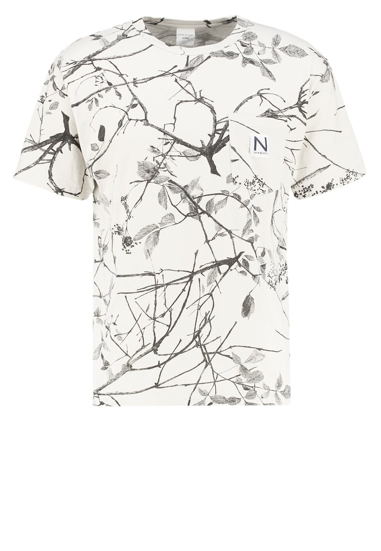 New Black BRANCH Tshirt z nadrukiem sand - Branch Tee