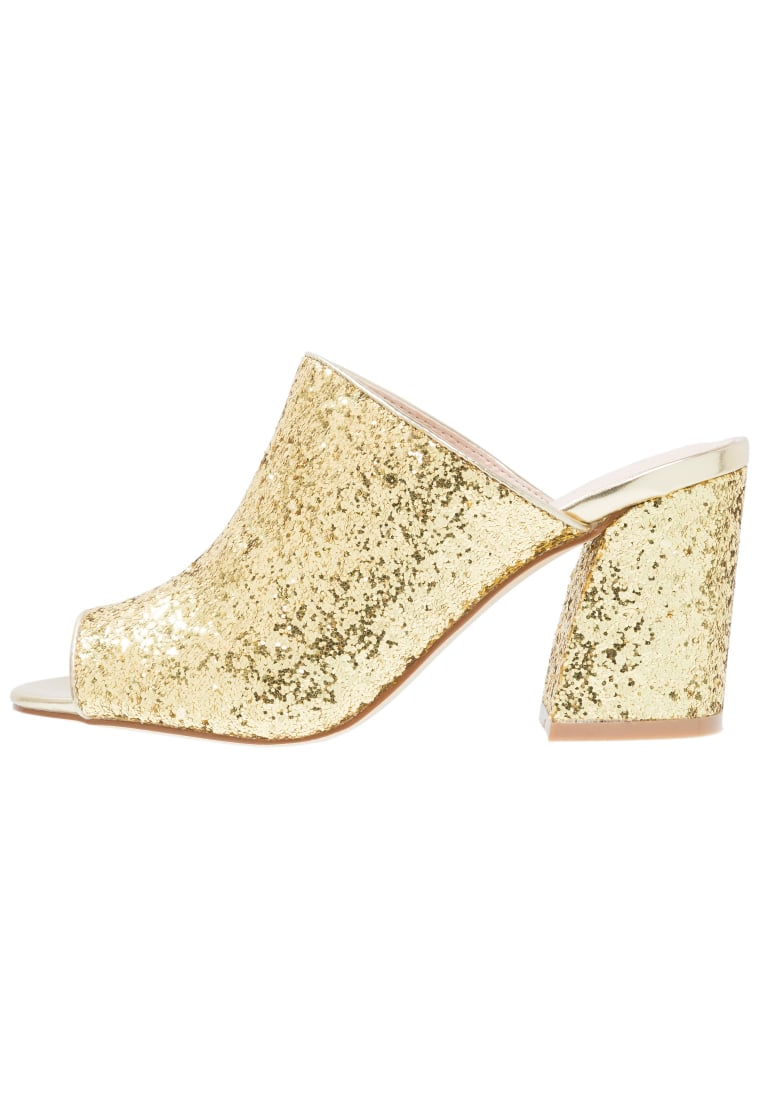 Shellys London DOROTHY  Klapki gold glitter